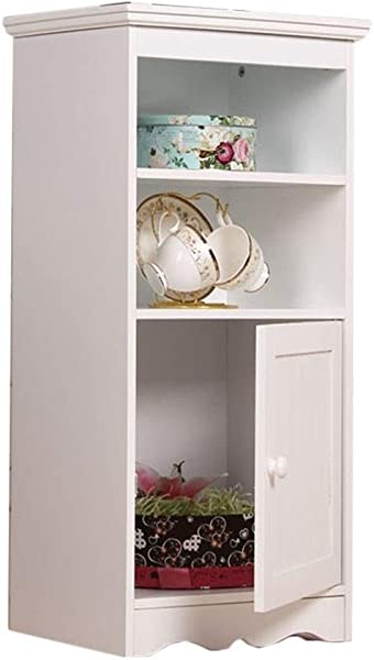 Floor Locker Bathroom Toilet Side Cabinet Kitchen Storage Cabinet Balcony Floor Rack Color White Size 403081 5cm