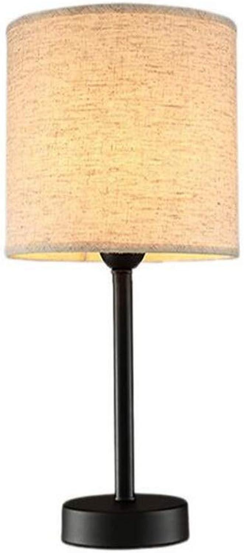 Nacht Lamptable Lampe Büro Dekoration Lichter Schlafzimmer Nacht Schlafsaal Lernen Lampe Stoff Schatten Taste Schalter (Gre  Hhe 30 Cm)