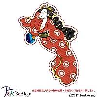 浮世絵美人-強粘着・UVカット・耐水ステッカー (2.Mサイズ)