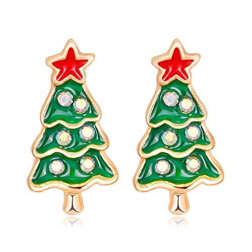 DaoRier - Ohrringe in Weihnachtsbaum, Größe 1.7 * 0.9CM