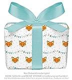 3er-Set Geschenkpapier Bögen für Kinder/Kindergeburtstag/Baby/Geburt/Taufe mit FUCHS GRILANDE für Mädchen und Jung`s • Format : 50 x 70 cm
