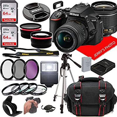 Nikon D5600 DSLR Camera w/NIKKOR 18-55mm f/3.5-5.6G VR Lens + Case + 128GB Memory (26pc Bundle) from Jerry's Photo | Nikon intl