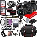 Nikon D5600 DSLR Camera w/NIKKOR 18-55mm f/3.5-5.6G VR Lens + Case + 128GB Memory...