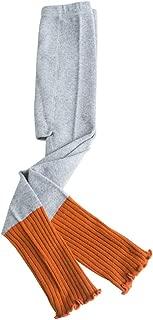 Spring Autumn Kids Leggings Children Girl Cotton Color Patchwork Knitted Skinny Pants Flexible Leg Warmer