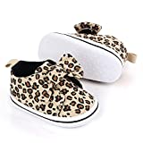 Infant Newborn Shoes Baby Girl Boy Shoes 0-6 Months Babies Sneakers, Soft Sole High Top Leopard Walking Shoes