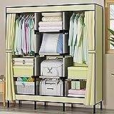 NXYJD Gabinete de Almacenamiento a Prueba de Polvo Plegable Moderna de Tela Oxford Armario ropero Mobiliario de Dormitorio (Color : C)