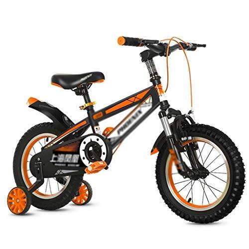 WJTMY Bicicletas for niños, 12' y 14' Bicicletas niños Durante 3-12 años, Las niñas de Bicicletas con Ruedas de Entrenamiento, Kinder Pedal de Bicicletas Niño Niña Cochecito de niño