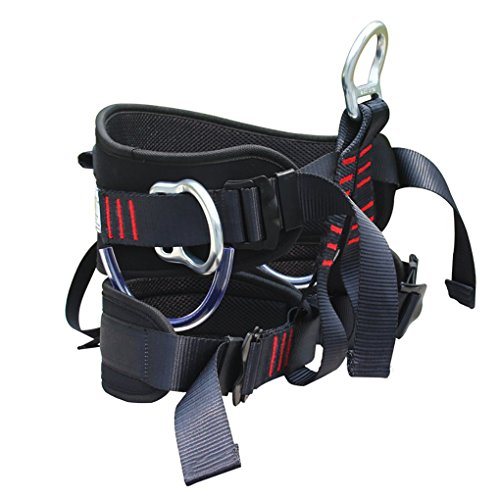 MX kingdom klettergurt, Black Klettern Sicherheitsgurt für Bergsteigen Arbeiten Höhlenforschung