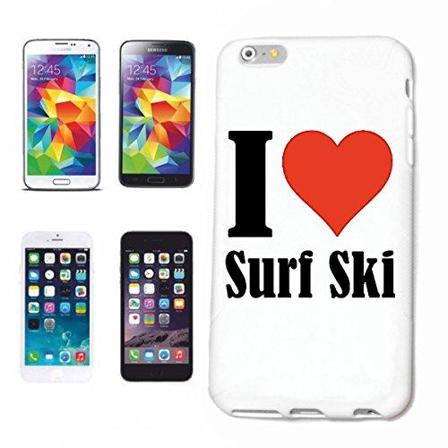 Reifen-Markt Hard Cover - Funda para teléfono móvil Compatible con Samsung Galaxy S6 I Love Surf Ski