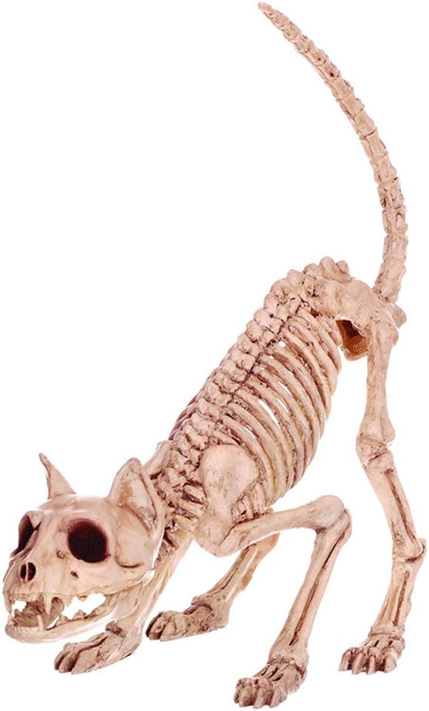 Retro Cat Skeleton Haunted House Animal Skeleton Horror Bar Movie Props Halloween Ornament