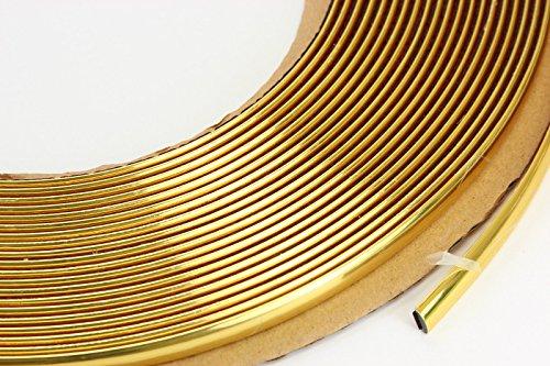 phil trade Gold Chrom Zierleiste 6mm x 15m selbstklebend universal Auto Goldleiste Kontur