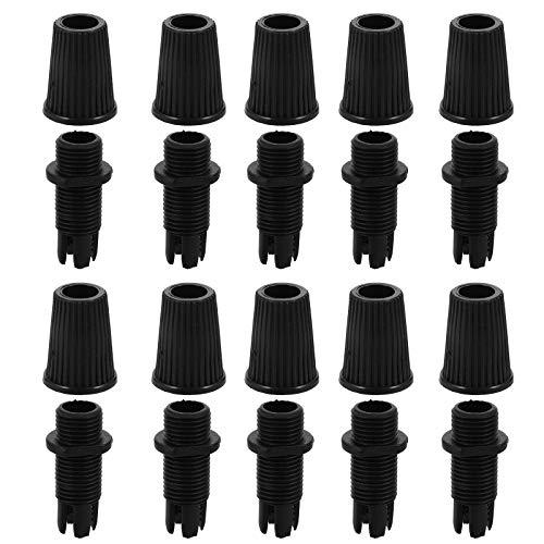 VILLCASE Conector para toma de cable Pressacacables 100 unidades para iluminación de suspensión, cableado de luz de suspensión, color negro