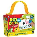 Educational Insights Hot Dots Jr. Beginning Phonics Flash Card Set, 72 Preschool & Kindergarten Readiness Lessons, Ages 3+