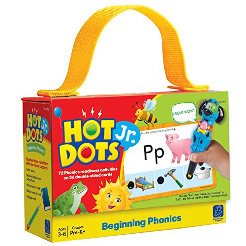 Educational Insights Hot Dots Jr. Beginning Phonics Card Set, Preschool and Kindergarten Readiness