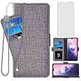 Asuwish Compatible with OnePlus 7 6T Wallet Case Tempered