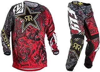 New Fly Racing Kinetic Rockstar Energy Jersey & Pants Combo Set MX ATV Riding Gear (Medium / 32)