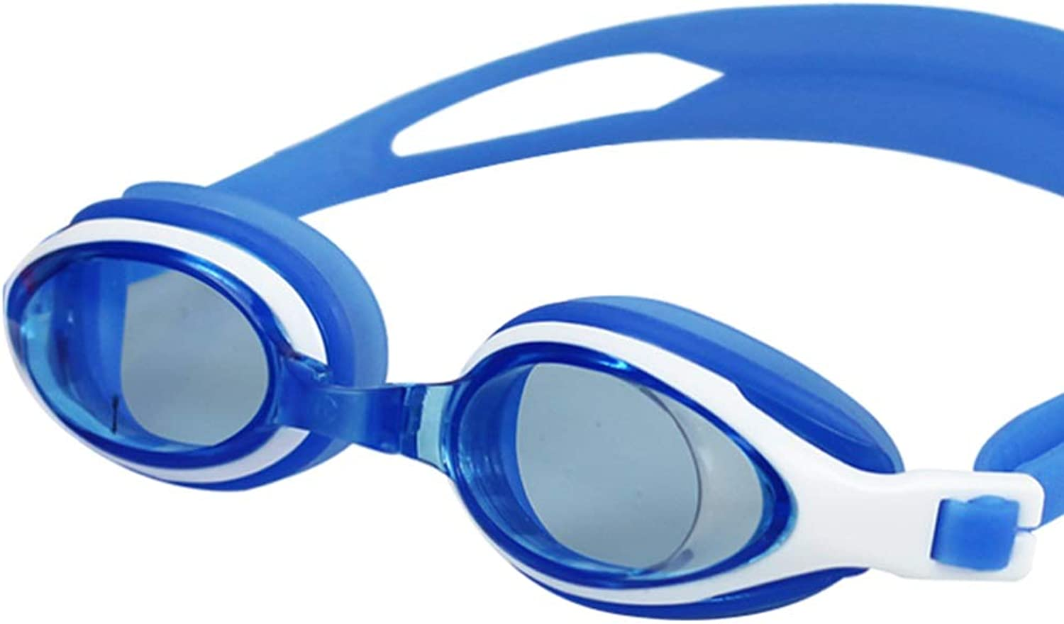 Swimming Goggles Big Box HD Waterproof AntiFog Men's Ladies Casual Teen Goggles (color   bluee)