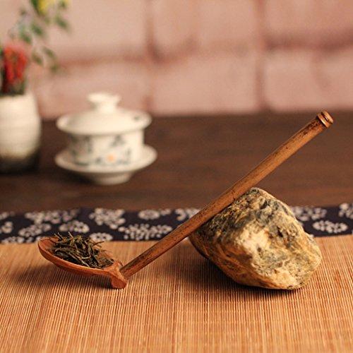 PETSOLA Japanischer Bambus Wasserlöffel Sauna Schöpfkelle Saunakelle Tee Schöpfkelle -