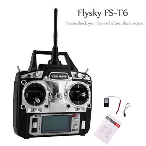 UNIKEL Flysky FS-T6 Radiosteuerung 2.4G 6 Kanal-Sender + Empfänger für RC Hubschrauber