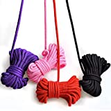 4 Ropes 10M 32Ft Extra Long Premium Cotton Rope No Fraying (Red Black Pink Purple)