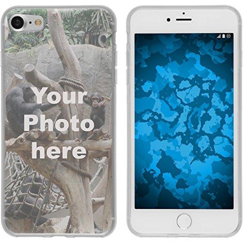 PhoneNatic Case kompatibel mit iPhone 7/8 / SE 2020 Personalisierte Handyhülle Clear zum selbst gestalten mit eigenem Foto