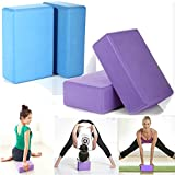 2Pcs Pilates Yoga Block Foaming Foam Brick Exercise Fitness Stretching Aid Gym- Blue By MEE TONG SHOP