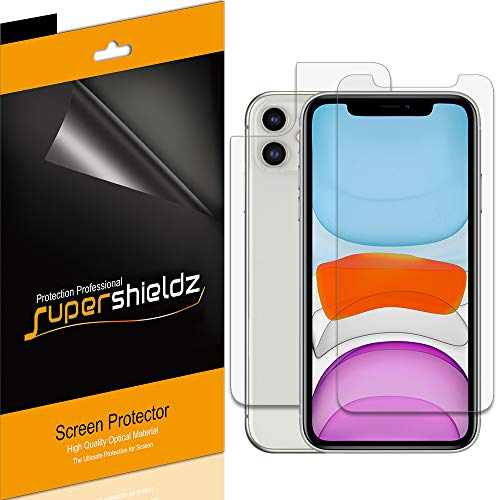 Supershieldz for Apple iPhone 11 (6.1 inch) (Front and Back) Screen Protector, Anti Glare and Anti Fingerprint (Matte) Shield (3 Front and 3 Back)
