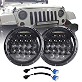COWONE 7 Inch Round 5D 2020 Newest Design 130w LED Projector Headlight with DRL Compatible with Jeep Wrangler JK TJ...