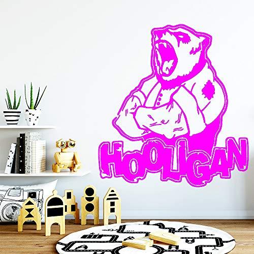 yaoxingfu Romantische Bär Wandaufkleber Vinyl Kunst Wohnkultur Für Kinderzimmer Wohnzimmer Wohnkultur Hintergrund Wandkunst Aufkleber ww-5 L 43 cm X 46 cm