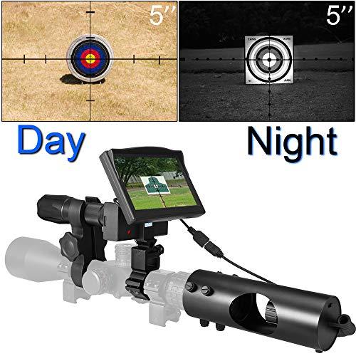 SIHEE Telescopio per Visione Notturna per carabina da Caccia, con telecamere HD e Display Portatile da 5