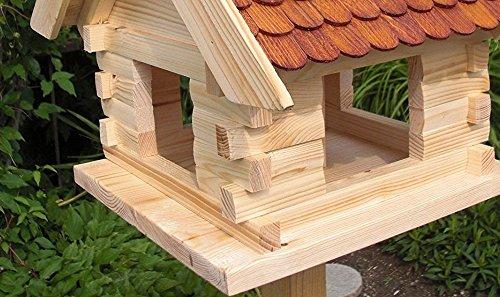 Vogelhaus Vogelhäuser-(V05)-Vogelfutterhaus Vogelhäuschen-aus Holz-DHL-XXXL Braun - 2