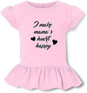 I Make Mama's Heart Happy Short Sleeve Toddler Cotton Girly T-Shirt Tee