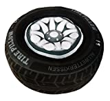 TrachtExemplar Reifen-Kissen 41x15 cm - Rad mit rausnehmbarer Felge - Werkstatt Deko - Allwetter-Kissen