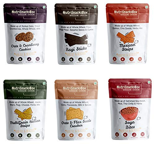 Assortments & Samplers (Combo of 6) Low Sugar Low Fat Fibre Rich Protein Rich Zero Refined Flour (Maida)