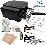 GLOWBERG High Quality Heating Element 1500W Small Electric Tandoor Comboo Free Gifts Hand Gloves,Grill Stand,Magic Cloth,Recipe Book,4 Skewers,Pizza Cutter,4 Shocked Proof Rubber Legs