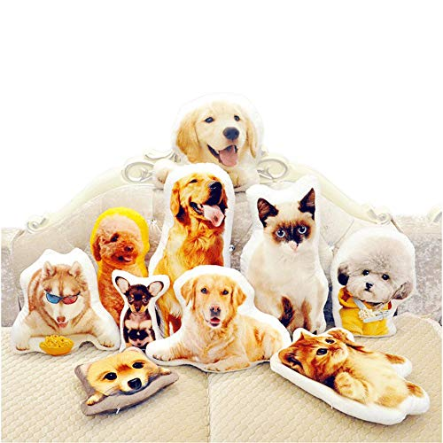 Custom Pet Pillow – Personalized DIY Shaped Pillow with Pet/Food/People and Others – Duplex Printing Customized Lover Gifts (20inches)