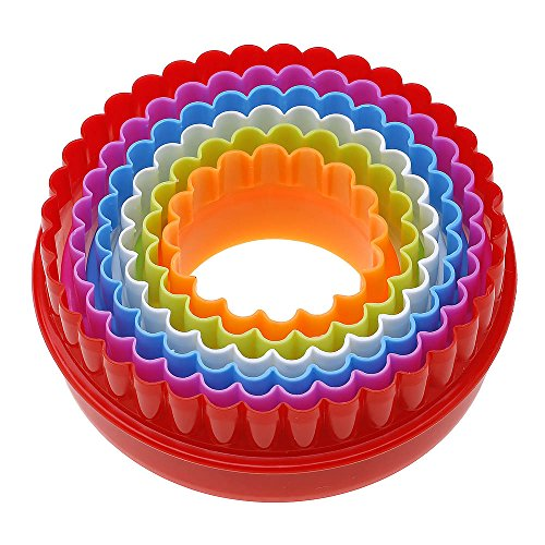 ?1jeu plastique Biscuit moulage moule gâteau cuisson outil rond couleur aléatoire