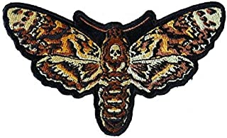 Psycho Moth Patch Embroidered Iron On Sew On Silence of the Lambs