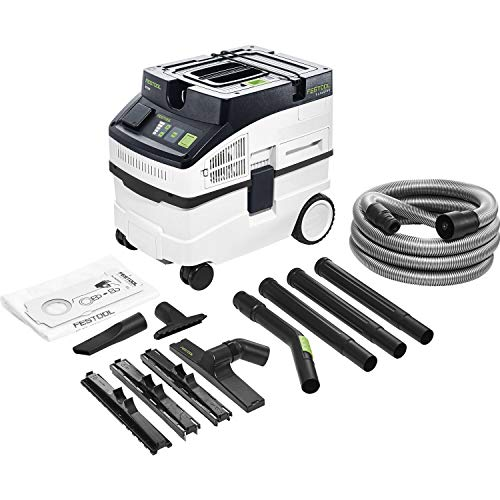 Festool 575988 CT15E - Aspiradora, color blanco, negro y verde