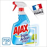 AJAX - Produit Nettoyant Vitres Ajax Triple Action Spray - Pour des Vitres 100 % Sans Traces - Formule 3 en 1 - Flacon Spray 750 ml