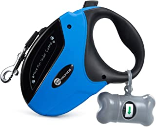 Best TaoTronics Retractable Dog Leash, 16 ft Dog Walking Leash for Medium Large Dogs up to 110lbs, Tangle Free, One Button Break & Lock , Dog Waste Dispenser and Bags included Review