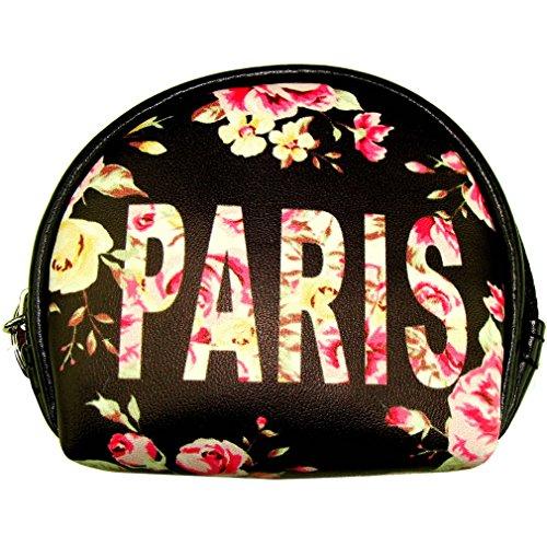 Porte-monnaie 'Paris Fleuri' Robin Ruth - Noir