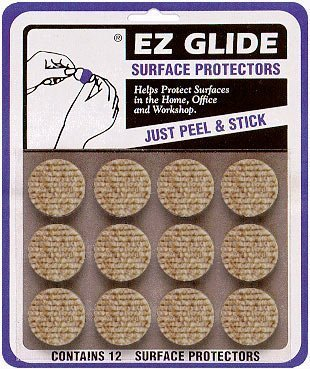 EZ Glide, 1 Circle Adhesive Protector, Sand Color