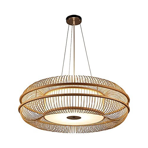 Qiao jin #Lámparas Colgantes Araña Sala de Estar Dormitorio Sala de Comedor lámpara casa de huéspedes lámpara Principal lámpara de té lámpara Zen (Size : 75CM)