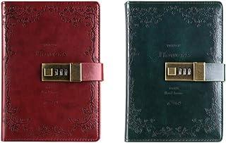 LIUCHEN@ CuadernoBloc de notas portátil portátil diario Pasaporte Oficina Bloc de notas Memo Líder Viajeros Diario Planificador escolar con bloqueo Regalo