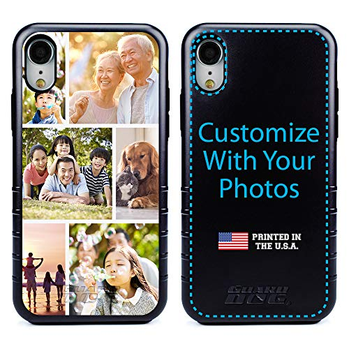 Guard Dog Custom iPhone XR Cases - Personalized - Make Your Own Protective Hybrid Phone Case - 6-Frame Photo Collage