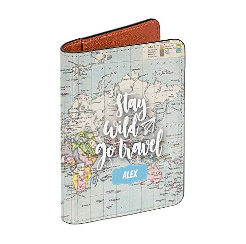Vintage Map Collection - Personalized RFID Passport Holder for Women and Men