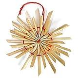 com-four® 56-teiliges Strohsterne Set - Christbaum-Schmuck - Stroh-Anhänger für den Weihnachtsbaum - natürlicher Christbaum-Behang - Weihnachtsdekoration - Ø 6 cm - 8
