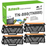 Aztech Compatible Toner Cartridge Replacement for Brother TN880 TN-880 HL-L6200DW HL-L6200DWT HL-L6250DW MFC-L6700DW MFC-L6800DW MFC-L6900DW (Black,4-Pack)