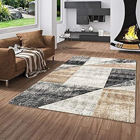 Amazon De Pergamon Designer Teppich Kurzflor Maui Modern Beige Grau Meliert In 5 Grossen
